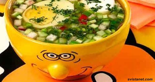 окрошка рецепт овощная окрошка легкая