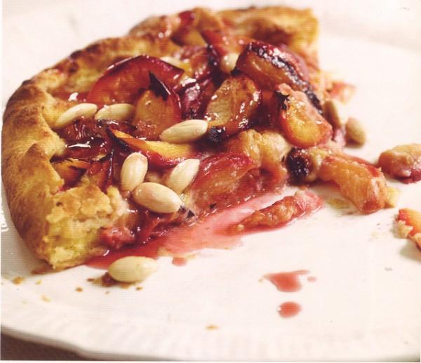 рецепты выпечки пирог со сливами и миндалем