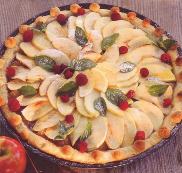 рецепт выпечки открытый яблочный пирог