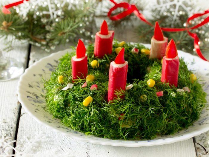 украшение блюд новогоднего стола - 37