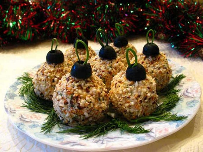 украшение блюд новогоднего стола - 38