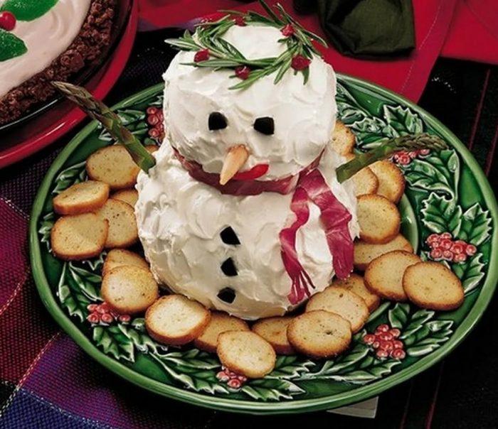 украшение блюд новогоднего стола - 39