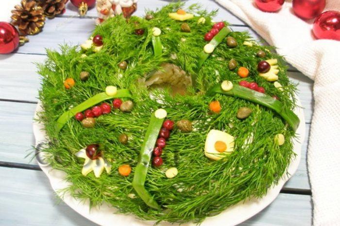 украшение блюд новогоднего стола - 40