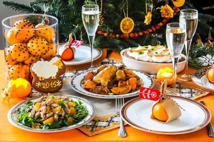 украшение блюд новогоднего стола - 41
