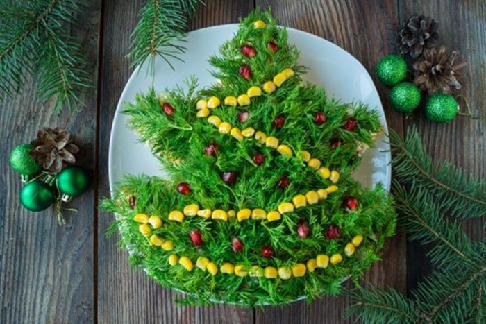 украшение блюд новогоднего стола - 42