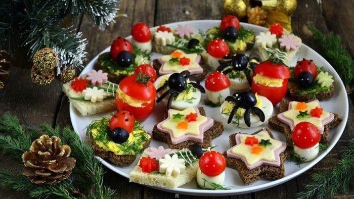 украшение блюд новогоднего стола - 43