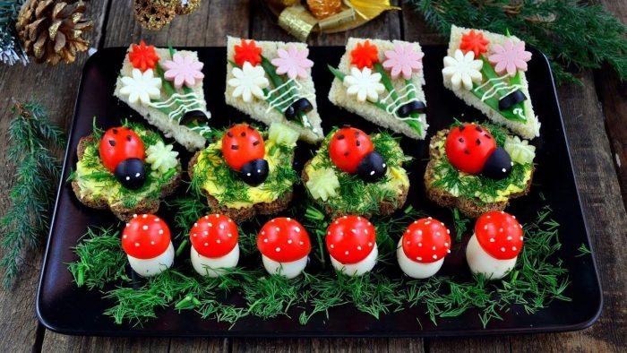 украшение блюд новогоднего стола - 44