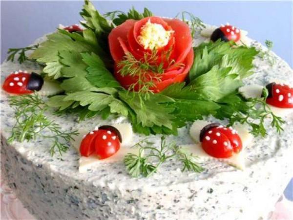 украшение блюд на новый год-11