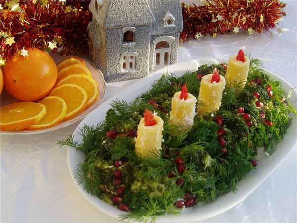 украшение блюд на новый год-15