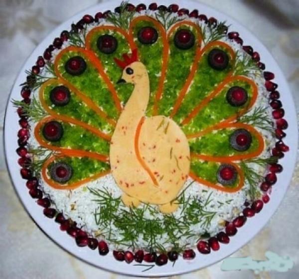 украшение блюд на новый год-23