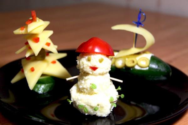 украшение блюд на новый год-28