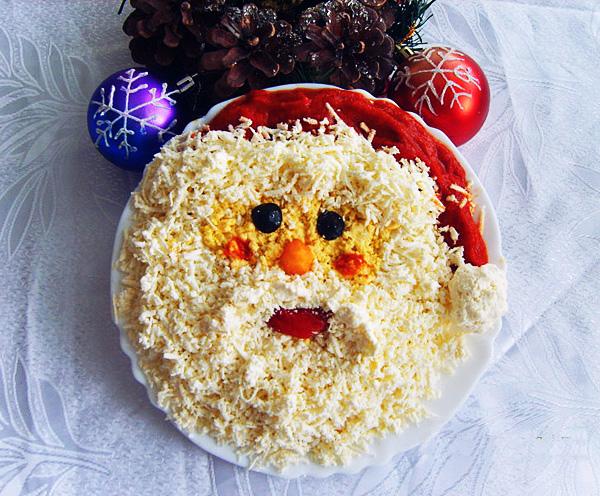 украшение блюд на новый год-33