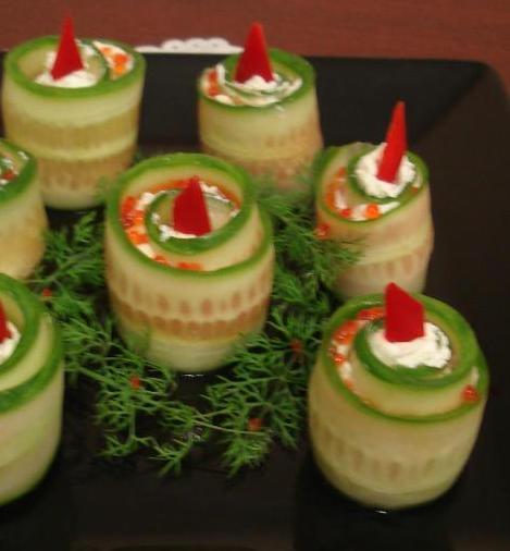 украшение блюд на новый год-34