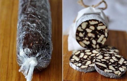 десерты шоколадное салями