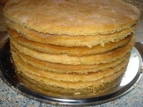 быстро приготовить коржи для торта