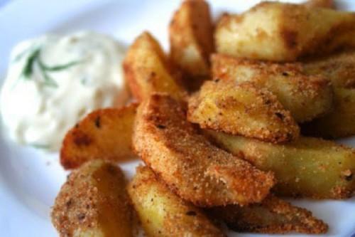 запеченный картофель в панировке