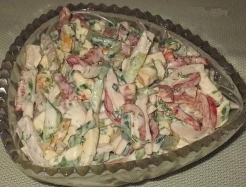 рецепты салатов салат София