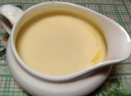 подлива к макаронам сырная