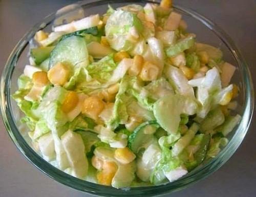 рецепты салатов салат с капустой, курурузой