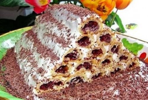 торты рецепты вишневый торт монастырская изба