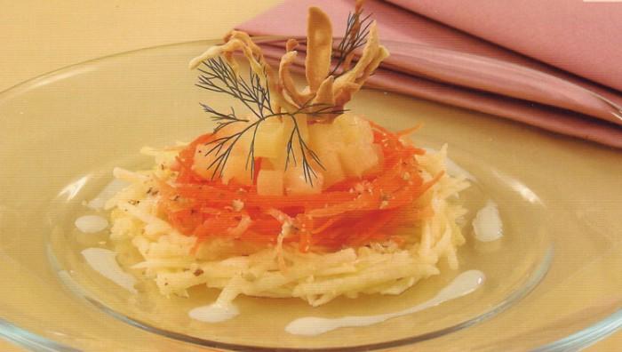 рецепты салатов морковь с ананасом