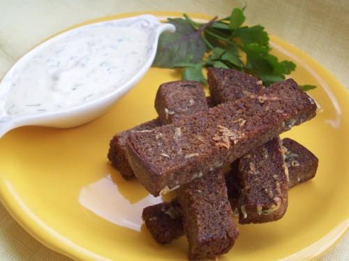 рецепт сухарики с чесноком