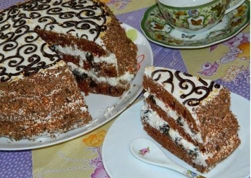рецепты тортов темная ночь