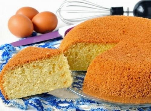 рецепты тортов ванильный бисквит на кипятке