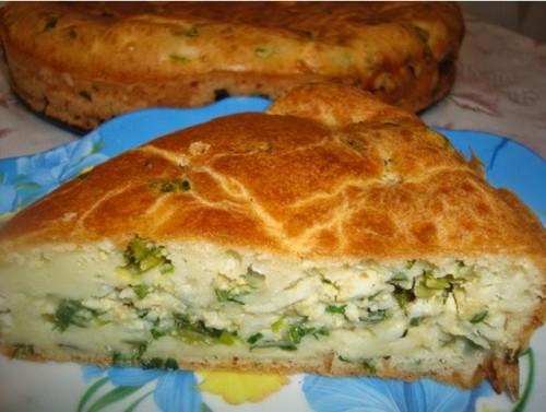 пироги рецепты быстрый пирог с луком и яйцами
