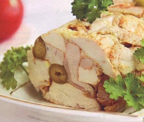 рецепты из курицы куриный рулет с оливками