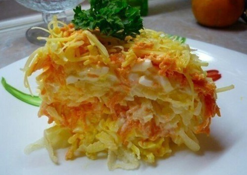 рецепты салатов салат Цветущая Франция
