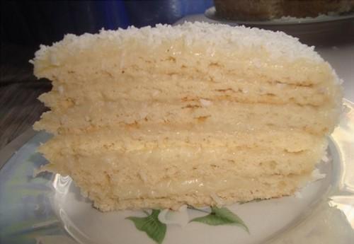 рецепты тортов Ананасовая нежность
