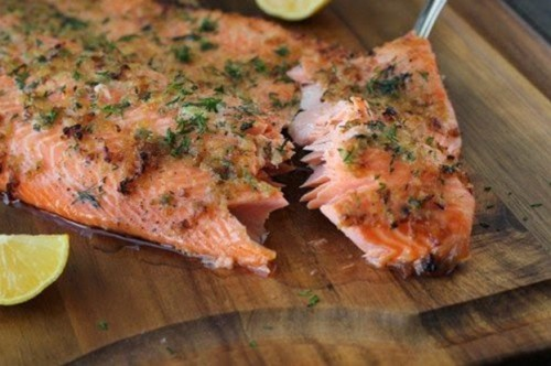 рыбные рецепты форель с лимоном и чесноком