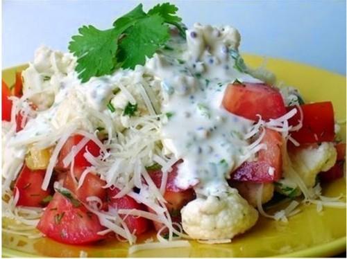 рецепты салатов легкий летний салат цветная капуста