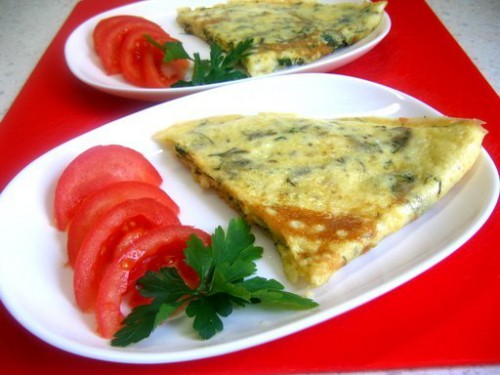 рецепты омлет с заленью