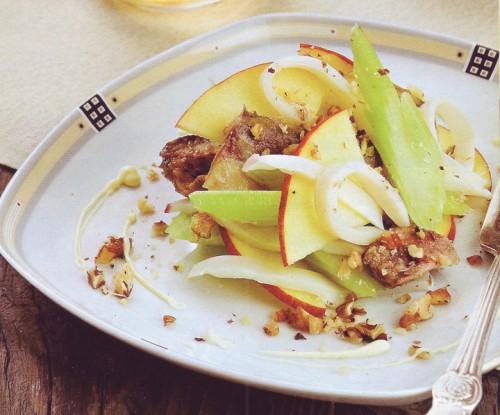 рецепт салата с сайрой и кальмарами
