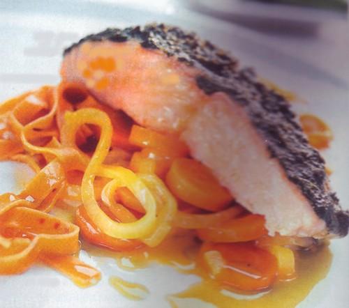 рыбные рецепты семга под соусом песто