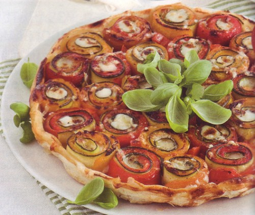 пирог с овощными рулетиками - 01