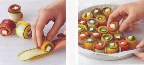 пирог с овощными рулетиками - 02