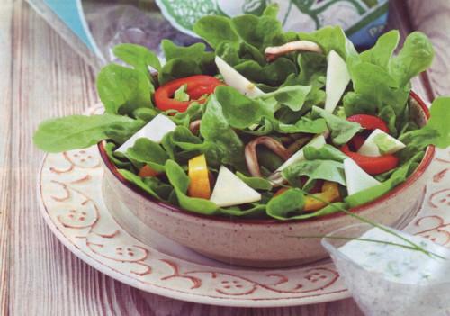 рецепт салатов салат по-бретонски с кальмарами