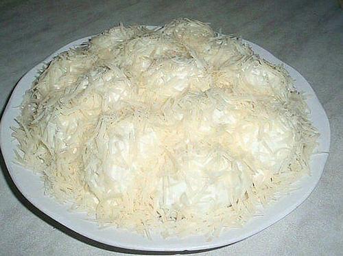салат с курицей сугробы