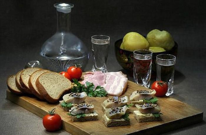 вкусные фото водка и закуска -02