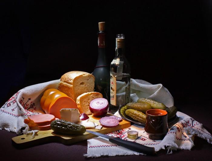 вкусные фото водка и закуска -05