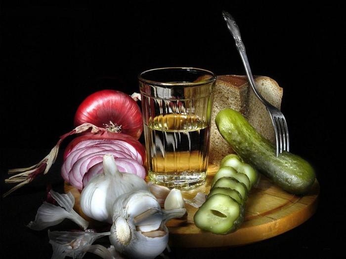 вкусные фото водка и закуска - 13