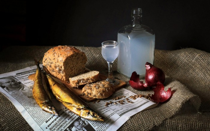 вкусные фото водка и закуска - 19
