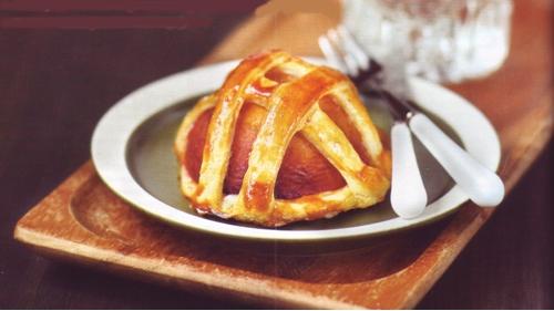 десерт персики в короне