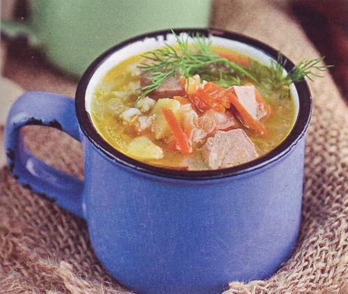 суп с яблоками и свининой