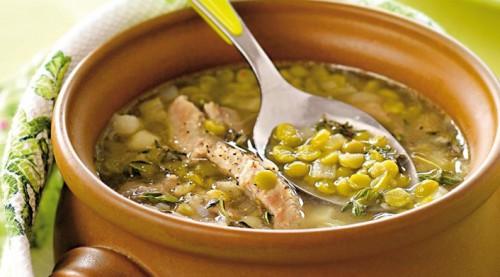 горозовый суп с копченой рулькой