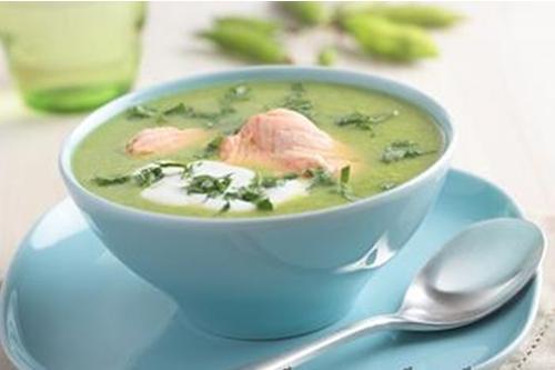 суп гороховый с лососем