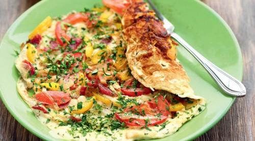 яичница лето в тарелке рецепт